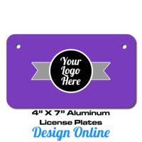 4 X 7 Aluminum License Plate Thumbnail
