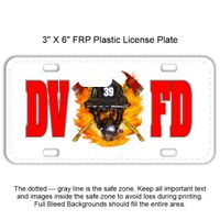 3 X 6 Heavy Duty Plastic License Plate Thumbnail