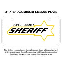 3 X 6 Aluminum License Plate Thumbnail