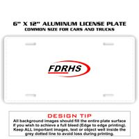 6 X 12 Full Size Aluminum License Plate for Cars and Trucks Thumbnail